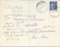 LETTRE DE 1938 AVEC CACHET HOROPLAN DE ERSTEIN - Marcophilie (Lettres)