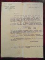 Lettre Commerciale Entete CHARLES LECLERC Huiles Suifs Corps Gras Courtier Marchandises Paris 1917 - France
