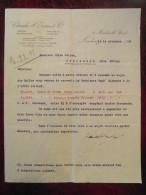 Lettre Commerciale Entete CLAUDE EVANS Londres London 1916 Pour Millau / Creissels Aveyron Huile De Morue - France