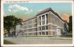 ! 1921 New High School, Portland, Maine, USA, Postcard Exchange Club, Ansichtskartentauschklub - Portland