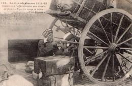 Cpa La Grande-guerre 1941-15 Goumiers A L Affut Derriere Une Voiture De Ferme - Guerra 1914-18