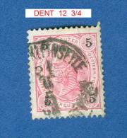 * 1890 - 96 N° 49 CHIFFRES NOIRS DENTELÉ 12 3/4 OBLITÉRÉ TB - Abarten & Kuriositäten