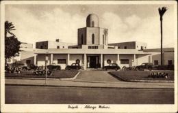Cp Tripolis Libyen, Albergo Mehari, Straßenpartie Mit Blick Auf Das Hotel - Algeri