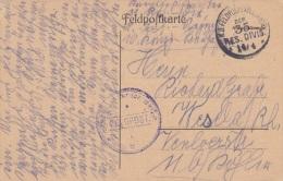 Feldpost WW1: Infanterie Regiment 107 (10. Kompagnie) P/m 14.4. By 35. Reserve-Division - Plain Postcard  (G34-35) - Militaria
