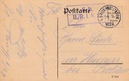 Feldpost WW1: Plain Postcard From France - Reserve Infanterie Regiment 27 P/m KD Feldpoststation No. 28  26.2.1916  (G34 - Militaria