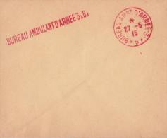 ENVELOPPE NON ADRESSÉE BUREAU AMBULANT D'ARMÉE 3xBx 1915 - Marcofilie (Brieven)