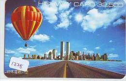 Telecarte  JAPON * Sport * MONTGOLFIERE (1228)  * Hot Air Balloon * Ballon * Aerostato  * PHONECARD JAPAN * - Sport