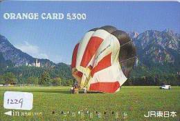 Telecarte  JAPON * Sport * MONTGOLFIERE (1229)  * Hot Air Balloon * Ballon * Aerostato  * PHONECARD JAPAN * - Sport