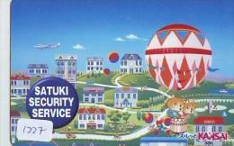 Telecarte  JAPON * Sport * MONTGOLFIERE (1227)  * Hot Air Balloon * Ballon * Aerostato  * PHONECARD JAPAN * - Sport