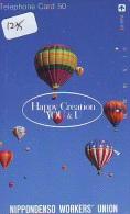 Telecarte  JAPON * Sport * MONTGOLFIERE (1235) * Hot Air Balloon * Ballon * Aerostato  * PHONECARD JAPAN * - Sport