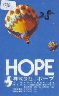 Telecarte  JAPON * Sport * MONTGOLFIERE (1236) * Hot Air Balloon * Ballon * Aerostato  * PHONECARD JAPAN * - Sport