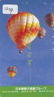 Telecarte  JAPON * Sport * MONTGOLFIERE (1237) * Hot Air Balloon * Ballon * Aerostato  * PHONECARD JAPAN * - Sport