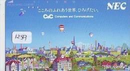 Telecarte  JAPON * Sport * MONTGOLFIERE (1259) * Hot Air Balloon * Ballon * Aerostato  * PHONECARD JAPAN * - Sport