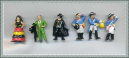 Figurines MARAJA/SCHWIND 1997 : ZORRO La Série Des 6 Personnages - Figurines