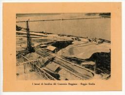 CARTONCINO PROPAGANDA FASCISTA - I LAVORI DI BONIFICA DEL CONSORZIO REGGIANO A REGGIO EMILIA 1929 - Documenti Storici