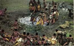 Firewalking On White Stones, Fiji - Stinsons 1019 Unused, Probably 1960s - Fiji