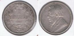 SUDAFRICA SOUTH AFRICA SHILLING 1897 PLATA SILVER  Z - Sudáfrica
