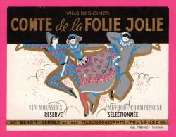 Vins Des Cimes - Comte De La Folie Jolie - Mousseux - Méthode Champenoise - Arlequins - MENARD - STE BENOIT & FilsT SERR - Labels