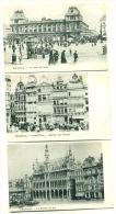Bruxelles Brussels 3 CPA Gare Du Nord Maison Du Roi Grand'Place Maison Du Roi Dos Non Divisé Env. 1904 - Belgique