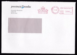 Netherlands: Cover, 1999, Meter Cancel, Province Of Drenthe, Heraldry (traces Of Use) - Periode 1980-... (Beatrix)