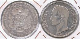 VENEZUELA  5 BOLIVAR 1910 PLATA SILVER Z - Venezuela