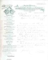 Facture: HAUTMONT.  LAMINOIRS à TUBES & Des FONDERIES.    1896. - Allemagne