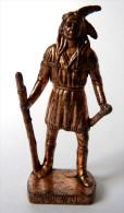 FIGURINE KINDER  METAL  INDIEN I - 5 LONE WOLF (2) Cuivre - KRIEGER Berümmte Indianer-Häuptlinge - Metal Figurines