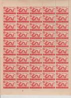 VIETNAM 1952  FULL SHEET  50 STAMPS OF  DRAGON 0.90cent  **MNH  Réf  9090 GF-80 - Viêt-Nam