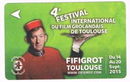 titre de transport collector ticket 4�me festival du film Grolandais Toulouse septembre 2015 NEUF