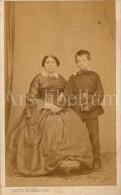 Photo-carte De Visite / CDV / Enfant / Child / Boy / Femme / Lady / Photo Hector De Sadeler / Bruxelles - Photos