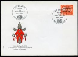 Switzerland, 1969, BIT, ILO, Visit Of The Pope, FDC, Michel 103 - ILO