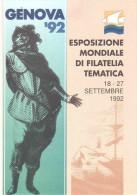 ESPOSIZIONE MONDIALE DI FILATELIA TEMATICA GENOVA 1992 - Exhibitions