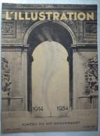 """L�ILLUSTRATION:1934.""""1914-1934..20� ANNIVERSAIRE:SARAJEVO.LYAUTEY.MUSEE de la GUERRE VINCENNES..ASSASSINAT DOLLFUSS..Etc"""