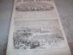 LE MONDE ILLUSTRE 16 JUILLET 1864 : ARCACHON - GUERRE DU DANEMARK - GUERRE D�AMERIQUE - CHATEAU-THIERRY - COCHINCHINE