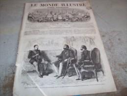 LE MONDE ILLUSTRE 25 JUILLET 1864 : RAFFINERIE DE SUCRE A NANTES - MEXIQUE - LYON - DANEMARK -