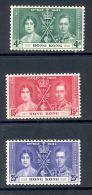 HONG KONG, 1937 Coronation Set VLMM, Cat £27 - Hong Kong (...-1997)