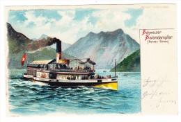 AK Durscheinkarte Meteor Schweiz Salondampfer Von Gebr. Metz Ges. 27.5.1901 Rorschach - Contre La Lumière