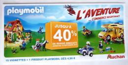 PLAYMOBIL FLYERS PUBLICITAIRE DEPLIANT 5 VOLETS Pour AUCHAN - Playmobil