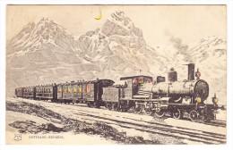 AK Durscheinkarte Schweiz Gotthard Express Ges. 20.9.1907 Wädenswil Nach London - Contre La Lumière
