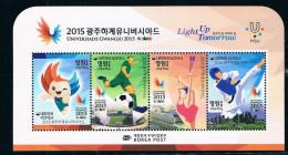 Korea University Games 2015 Souvenir Sheet MS New - Korea (Süd-)