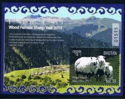 Yi Wei Year Of The Goat Chinese Zodiac Bhutan 2015 New Sheetlet M - Bhutan