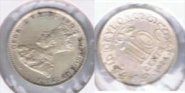 SRI LANKA CEILAN 10 CENT JORGE V 1924 PLATA SILVER Z - Sri Lanka