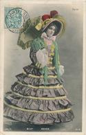 FEMMES - FRAU - LADY - SPECTACLE - ARTISTES 1900 - Jolie Carte Fantaisie Portrait Artiste MILY MEYER Avec Ombrelle - Femmes