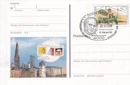 1990 Düsseldorf - Postkarte -  10. Internationale Briefmarken-Ausstellung - Sir Rowland Hill - [7] Federal Republic