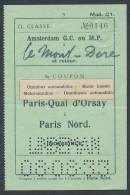 QX814 FRANCE Paris Quai D'Orsay - Paris Nord 1933 - Bus