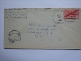 US 1945 COVER WITH NAVAL CENSOR AND U.S. NAVY MARK USS SAINT PAUL - Etats-Unis
