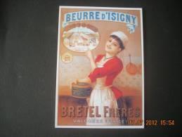 CLOUET   10489   VALOGNES  BEURRE D ISIGNY  BRETEL FRERES                           Retirage - Publicidad