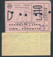 ZD402 ITALY ACNIL Venezia 2 Tickets - Boat