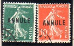 "FRANCE : TP N° 137+138 °   ""  ANNULE  "" - Cours D'Instruction"