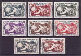 1958 - 10e Anniversaire De La Déclaration Universelle Des Droits De L'Homme (voir Description Complète) 2 Scans - France (former Colonies & Protectorates)
